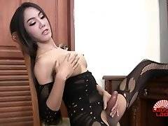 Beautiful Nat (who also goes by Donut) is a stunning Pattaya ladyboy with a sexy slim body, a firm slim ass and a hard cock! Watch this gorgeous tgirl