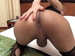 The POV slams into Benty`s ass, touching every inch of her backdoor. Her anal walls stretch beckoning the bareback cock in as deep as possible. Benty`